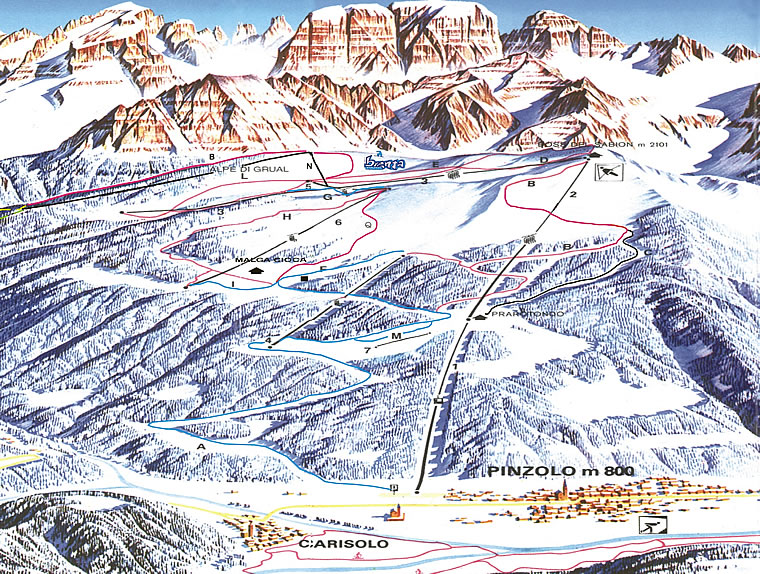 Ski Area Pinzolo Sciare A Pinzolo Mappa Sci Di Pinzolo